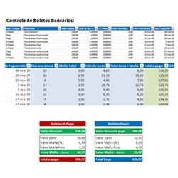 Planilha Controle Boletos Bancarios Vencidos Calcular Boleto Excel 250