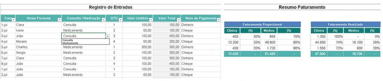 Planilha Personalizada Excel