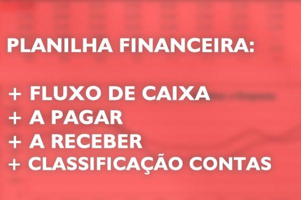 Planilha Contas A Pagar, Receber + Fluxo De Caixa Realizado