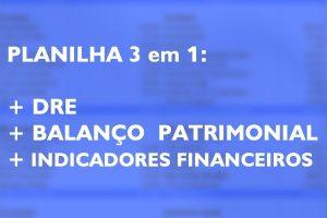 Planilha Indicadores Financeiros integrada com Balanço Patrimonial + DRE