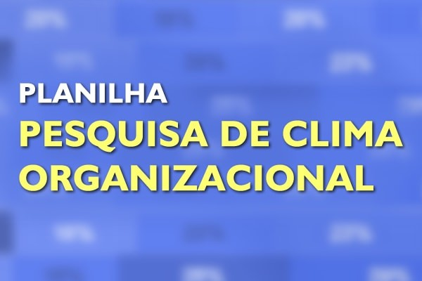 Capa Planilha Pesquisa Clima Organizacional