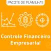 Pacote com 9 Planilhas de controle financeiro empresarial