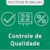 Pacote de Planilhas de Ferramentas para Controle de Qualidade