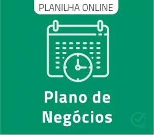 Planilha Google modelo de Plano de Negócios Online