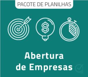 Pacote com 9 Planilhas para Abertura de Empresa
