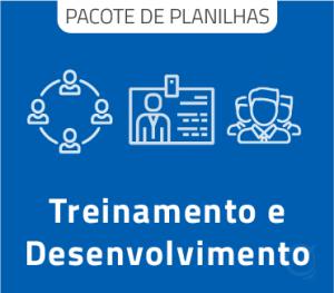 Pacote de Planilhas para Treinamento e desenvolvimento profissional em Excel