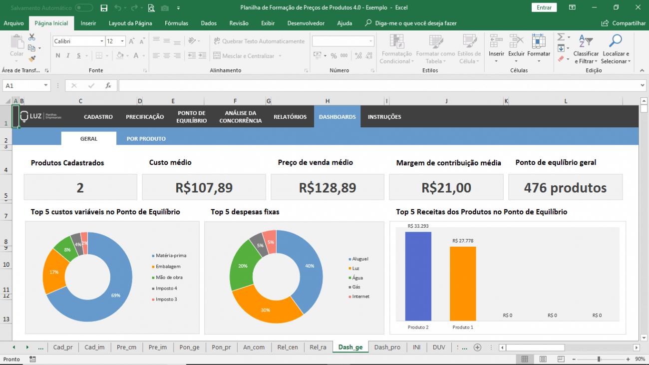 Planilha Para Calcular Preço De Venda De Produtos Em Excel