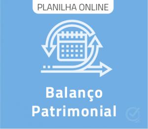 Planilha de Balanço Patrimonial - Google Online
