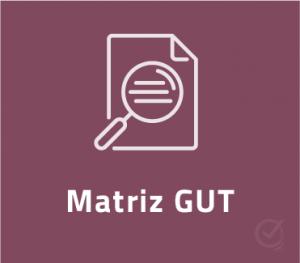 Planilha Matriz GUT em Excel - gravidade urgencia tendencia