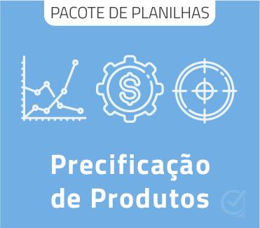 Pacote com Planilhas de precificação de produtos em Excel + Apostila