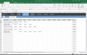 planilha gestão de contratos recebimentos