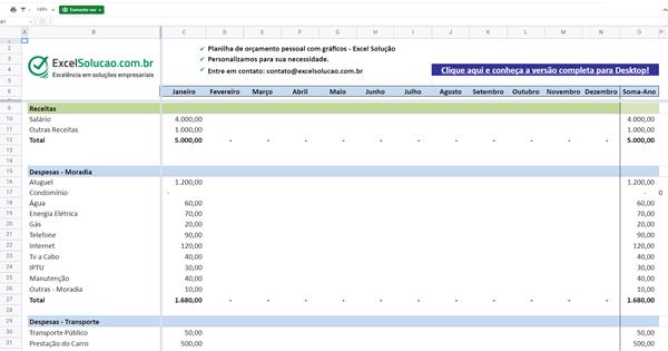 planilha online de gastos pessoais - google sheets